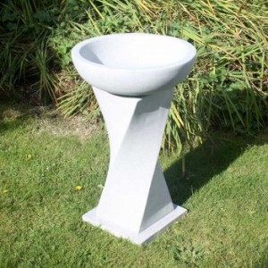 Contemporary Bird Bath - Granite