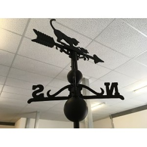 Black Cat and Mouse Weathervane