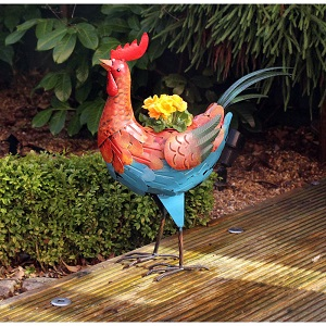 Rooster Bird Plant Pot